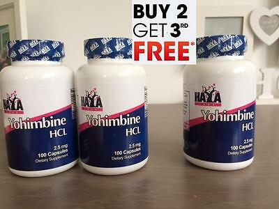 Yohimbine HCL 100 Capsules 2.5 mg ((BUY 2 PCS GET 1 FOR FREE))*