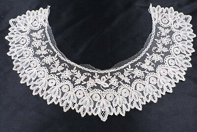 Mid 19Th C Ornate Brussels Lace Collar For Dress