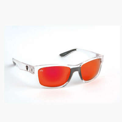 Fox Rage Sunglasses Trans Frame / Mirror Red Finish Lens Grey Polbrille Neu