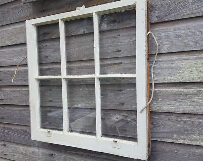 "VINTAGE SASH ANTIQUE WOOD WINDOW PICTURE FRAME PINTEREST WEDDING ETSY 28"" x 28"""