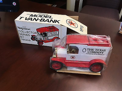 1984 Texaco 1913 Ford Model-T Van- Bank With Box