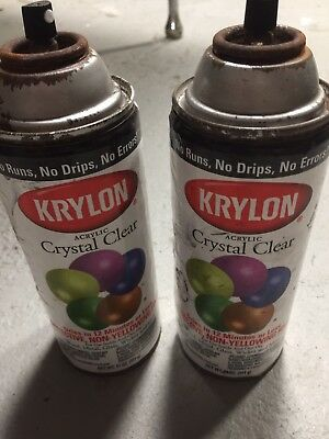 Vintage Krylan Spray Paint Cans Lot Of 2 Clear