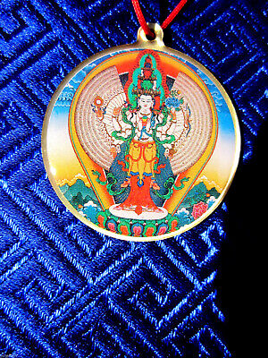1000 Arm Chenrezig Avalokiteshvara Mantra Tibetan Buddhist Pendant Necklace New