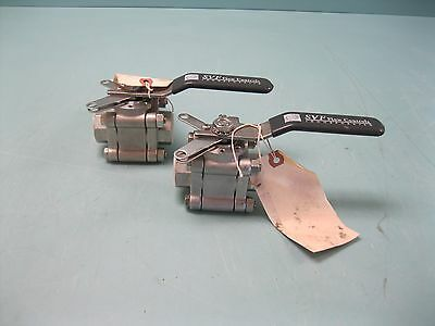 "Lot (2) 3/4"" NPT SVF 600# Series FB8 Ball Valve FB86666AGSE NEW D3 (2095)"