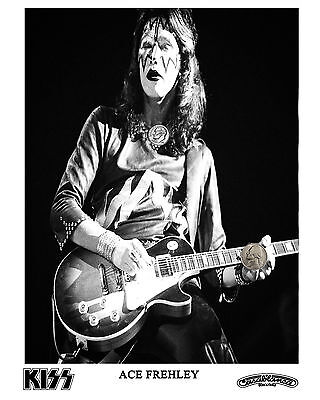 KISS ACE FREHLEY PRESS PUBLICITY PROMO HIGH GLOSS NEW 8x10 PHOTO REPRINT 70's