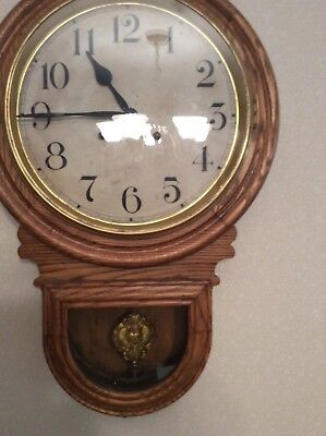 Antique Waterbury Wall Clock