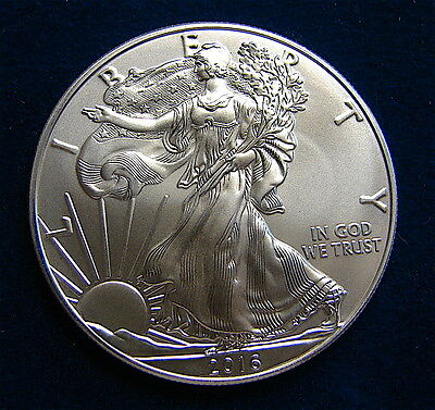2016~~ 1 Oz Silver American Eagle BU-------40 Coins Available----free ship