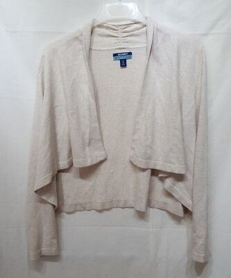 Old Navy Maternity Open Front Draped Cardigan Top Solid Beige Medium (V)