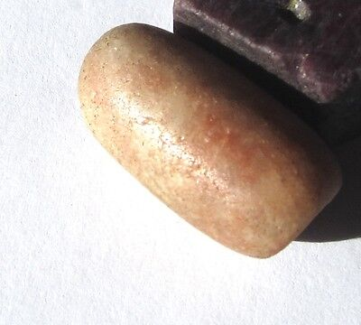 RARE LARGE STUNNING ANCIENT OVAL MALI STONE BEAD 16mm x 29mm