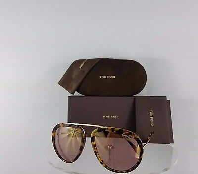 Brand New Authentic Tom Ford Sunglasses Tf Ft 452 53Z Stacy Tf0452 Tortoise Gold