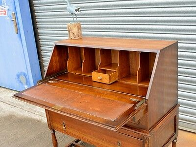 Antique Solid Oak Bureau Desk.