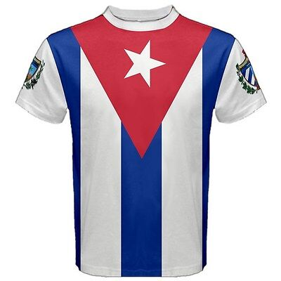 CUBA Country Flag Cuban National Coat of arms Gift Tees T-SHIRT FC2