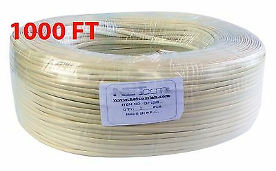 Telephone Flat Cable 4C 1000Ft  Ivory 4 Conductor