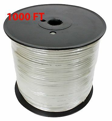 1000ft 22 AWG Gauge 22/2 Alarm Telephone  Wire Cable Gray 4 conductors  22X2