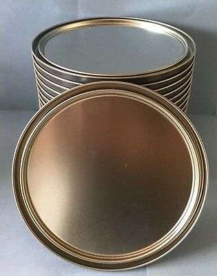 "Lot of 25 1 Gallon Paint Can Lids 6 1/4"" Diameter Metal Standard Size NEW"