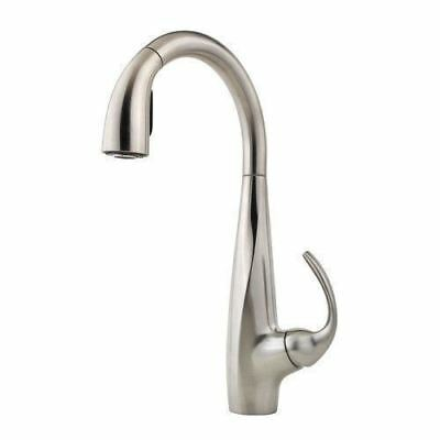 Pfister Avanti Single-Handle Pull-Down Sprayer Kitchen Faucet in Stainless Steel