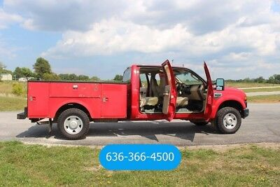 2008 Ford F250 Crew cab low miles 4wd service utility work truck Used utility
