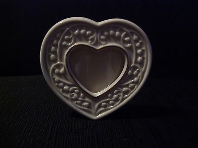 Lenox Heart Shaped Free Standing Picture Frame - Never Used