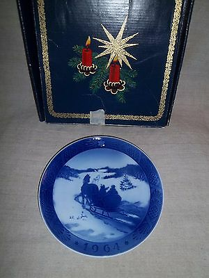 1964 Royal Copenhagen Denmark Christmas Plate Fetching The Christmas Tree In Box