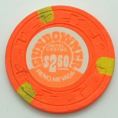 Sundowner $2.50 Casino Chip Reno Nevada H&C Paulson 1983 FREE SHIPPING