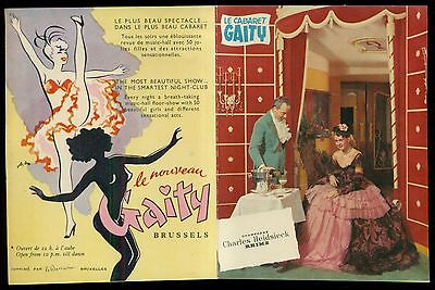 1950's The Gaity Cabaret/Burlesque Advertising Booklet - Brussels,Belgium