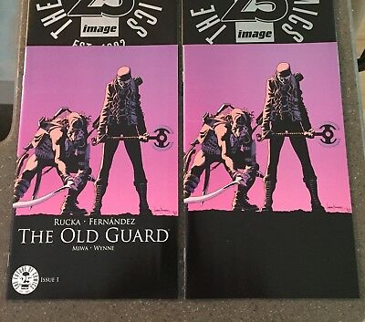 The Old Guard #1 Image 25th Anniversary Blind Box Virgin Variant 1/170 And Color
