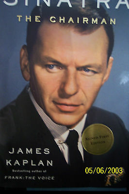 """Frank Sinatra Book,  """"The Chairman"""" - James Kaplan (1st edition, Autographed)"""