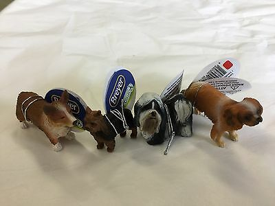 Breyer Newest Collectable Horse Corral Pals Set of four Tiny Dogs