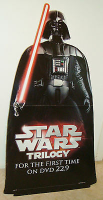 CARDBOARD STAND up Promotional DISPLAY DARTH VADER STAR WARS 2004 cutout