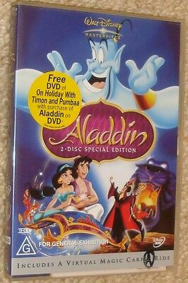 LIKE NEW R4 DVD  Aladdin (Disney, DVD, 2004) 2-disc special edition