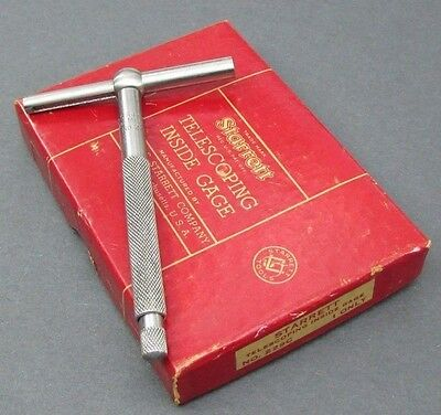 vintage STARRETT 229C Telescoping Inside Gage In Original Box; Machinist