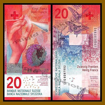 Switzerland 20 Francs, 2015 (2017) P-76 Hybrid Polymer Swiss National Bank Unc