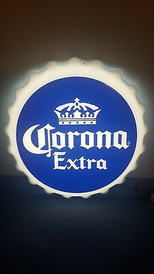 (L@@K) Corona beer bottle cap LED light-up sign Game Room MIB new