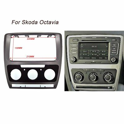 2 Din Radio Stereo Frame Fascia Dash Panel For Skoda Octavia 2010~2013 Manual AC