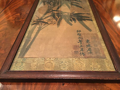 A Rare Chinese Antique Painting on Paper, Framed.