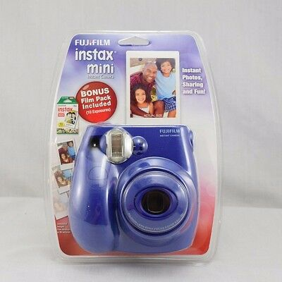 Fujifilm Instax Mini 7S Instant Camera Bonus Film Pack Blue New