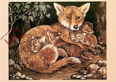 Picture Postcard-:Vixen And Cubs, Rita Whitaker