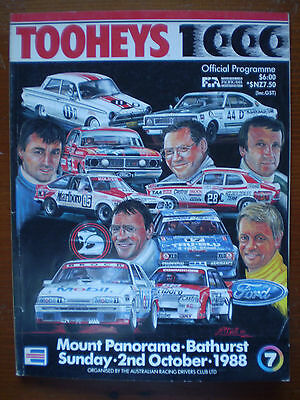1988 Bathurst 1000 Official Programme Magazine - Tooheys 1000 Peter Brock