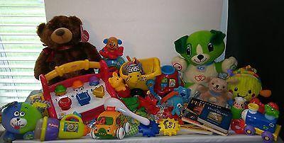 Baby Infant Toys Lot 26 Pieces -Rattles, Teethers  Board Books, Development Toy