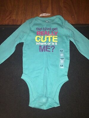 BNWT Blue Long Sleeve One Piece From Old Navy Infant Size 6-12 M!