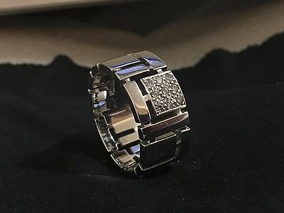 Men's Canturi Cubism 9-Diamond & 18 Carat White Gold Ring size 13 & Tiffany Cuff