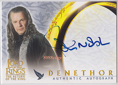 """2003 Lord Of The Rings Return Of King Auto: John Noble - Autograph """"all Saints"""""""