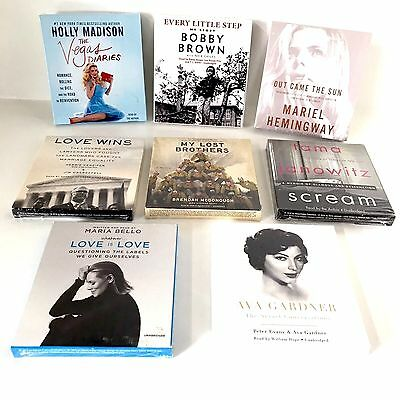 NEW Lot of 8 Biography and Autobiography Audiobook CDs - Mixed Lot