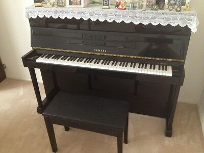 Yamaha L201C Upright Piano With Seat, Like Brand New, Rarely Used