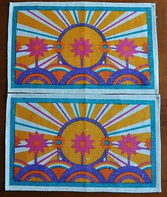 2x Vintage Placemats - Retro - 43cm x 26cm - NEW