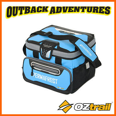 Oztrail 18 Can + Ice Permafrost Zipperless Hardbody Cooler Bag Blue