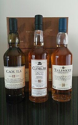 Classic Malts Collection! Scotch Whisky Coastal Pack!! 3 x 200ml in Box & Cover!