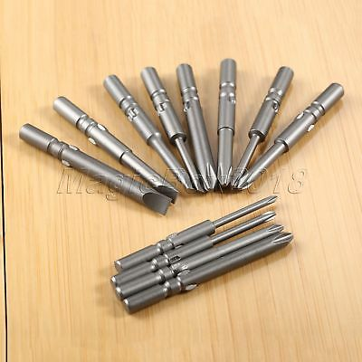 10pcs Cross/Straight PH1/PH2 Magnetic Screwdriver Bits For Electric Screwdriver