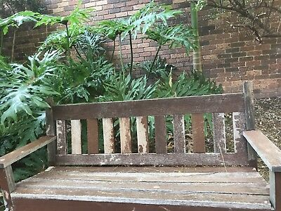 Vintage Garden Park Bench Seat - Outdoor Timber Bench Seat