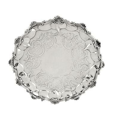 """Antique Victorian Sterling Silver 8"""" Tray  - 1854"""